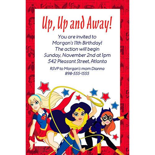 Custom DC Super Hero Girls Invitation Image #1
