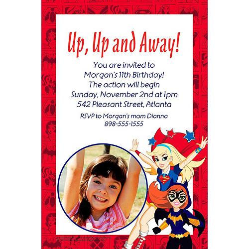 Custom DC Super Hero Girls Photo Invitation Image #1