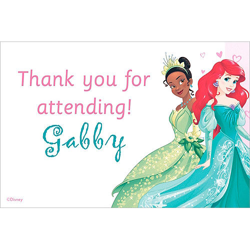 Custom Disney Princess Thank You Note Image #1