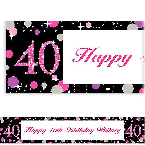 Custom Pink Sparkling Celebration 40 Banner Image #1