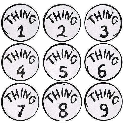 Thing 1 to Thing 9 Iron-On Patches 9ct - Dr. Seuss Image #1