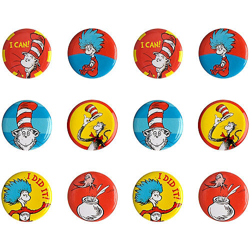 Cat in the Hat Buttons 12ct - Dr. Seuss Image #1