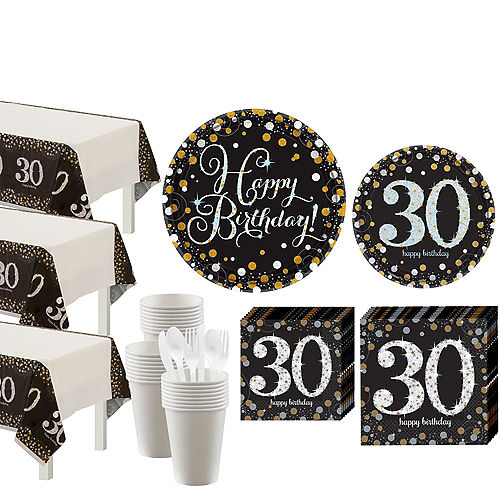Sparkling Celebration 30th Birthday Party Kit for 32 Guests Image #1