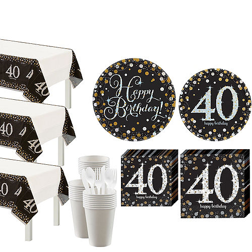 Sparkling Celebration 40th Birthday Party Kit for 32 Guests Image #1