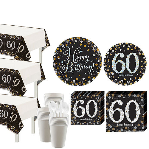 Sparkling Celebration 60th Birthday Party Kit for 32 Guests Image #1
