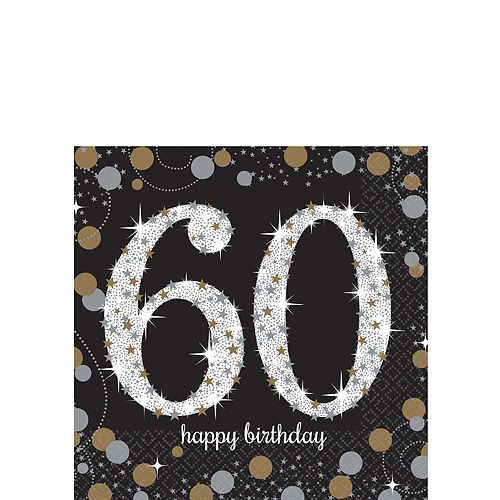 Sparkling Celebration 60th Birthday Party Kit for 32 Guests Image #4