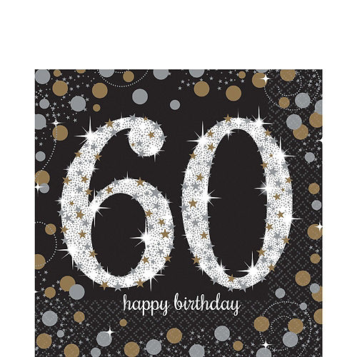 Sparkling Celebration 60th Birthday Party Kit for 32 Guests Image #5