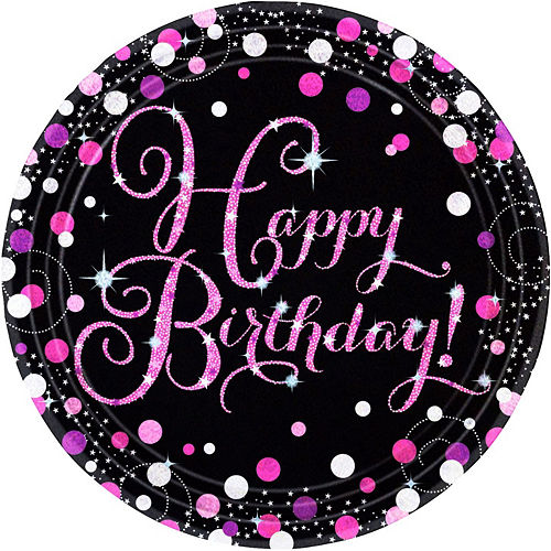 Pink Sparkling Celebration Birthday Party Kit for 32 Guests Image #6