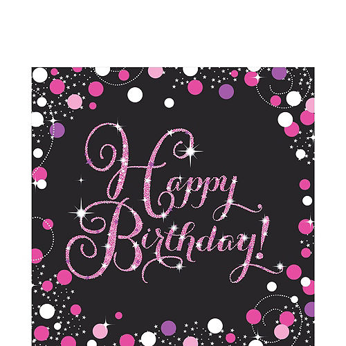 Pink Sparkling Celebration Birthday Party Kit for 32 Guests Image #7