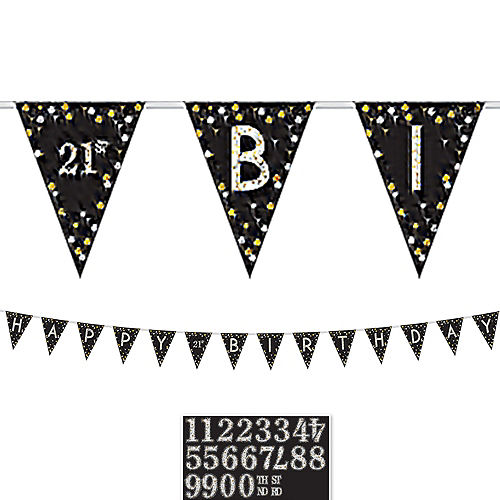 Sparkling Celebration 30th Birthday Decorating Kit with Balloons Image #5