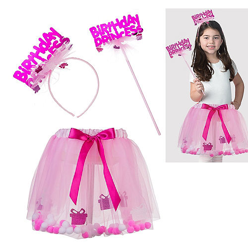 Child Pink Birthday Princess Accessory Kit 3pc Image #1