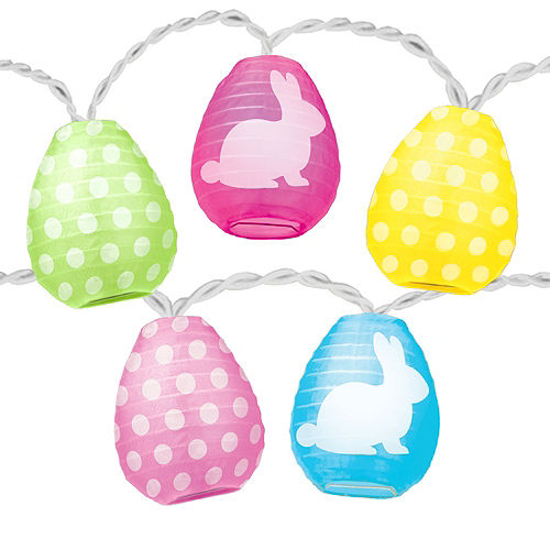Easter Egg Lantern String Lights Image #1