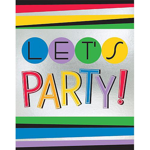 Rainbow Happy Birthday Invitations 8ct Image #1