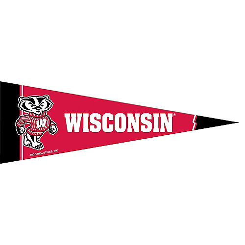 Small Wisconsin Badgers Pennant Flag Image #1
