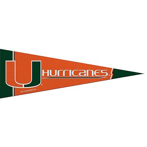 Small Miami Hurricanes Pennant Flag Image #1