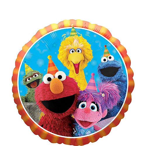 Sesame Street Birthday Balloon Image #1