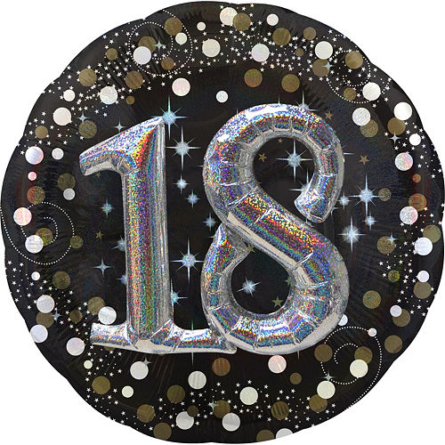 18th Birthday Balloon 32in - 3D Sparkling Celebration Image #1