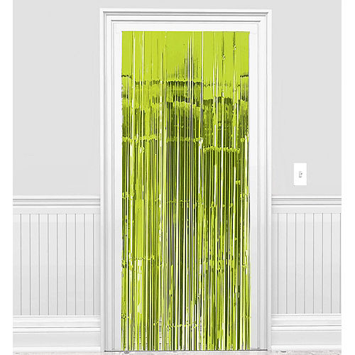 Kiwi Green Fringe Doorway Curtain Image #1