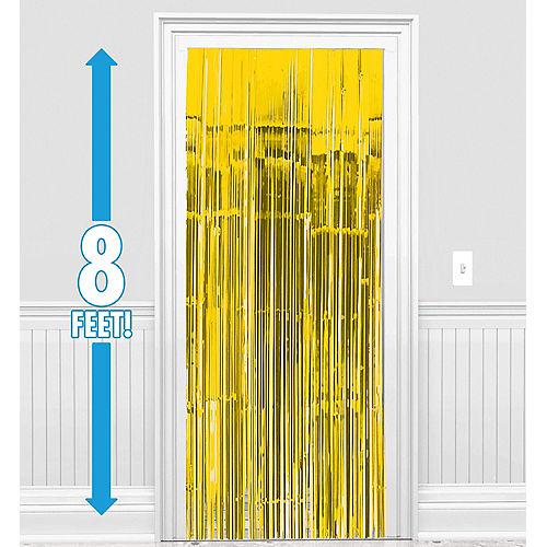 Sunshine Yellow Fringe Doorway Curtain Image #1