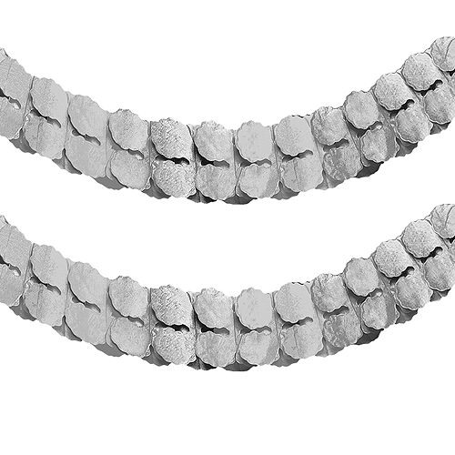 Silver Paper Garland Image #1