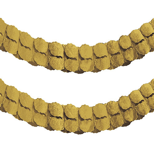 Gold Paper Garland Image #1