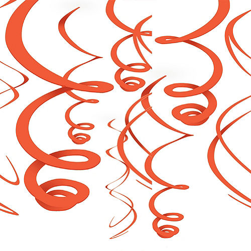 Orange Swirl Decorations 12ct Image #1