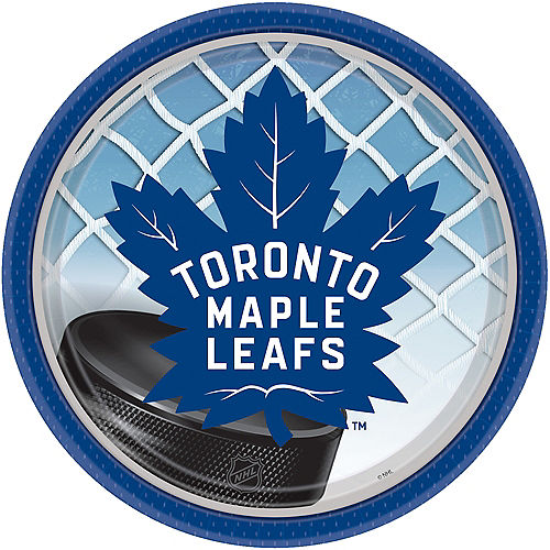 Toronto Maple Leafs Lunch Plates 8ct Image #1