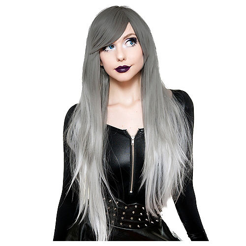 Silver White Ombre Cosplay Wig Image #1