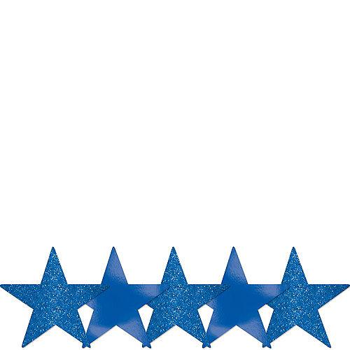 Mini Glitter Royal Blue Star Cutouts 5ct Image #1