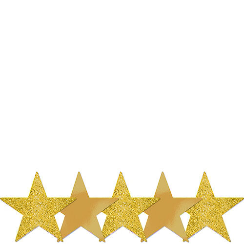 Mini Glitter Gold Star Cutouts 5ct Image #1