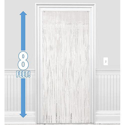 White Foil Fringe Doorway Curtain, 3ft x 8ft Image #1