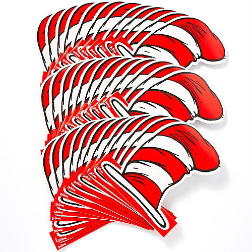 Cat in the Hat Paper Hats 36ct - Dr. Seuss Image #3
