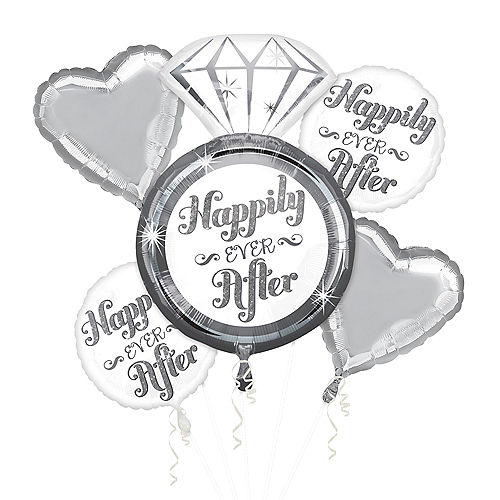 Happily Ever After Wedding Balloon Bouquet 5pc Image #1
