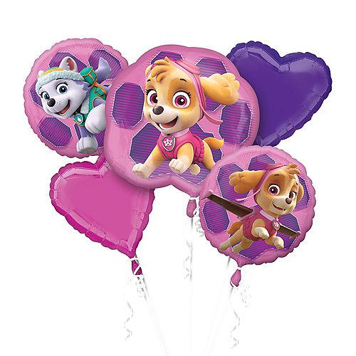 Pink PAW Patrol Balloon Bouquet 5pc Image #1