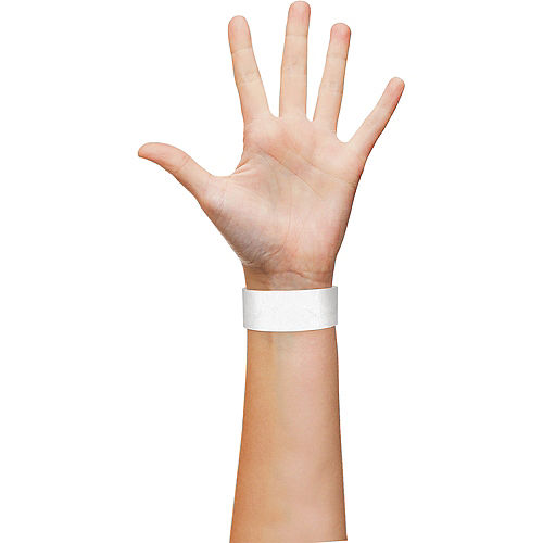 White Paper Wristbands, 500ct Image #2