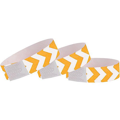 Orange Chevron Paper Wristbands, 500ct Image #1