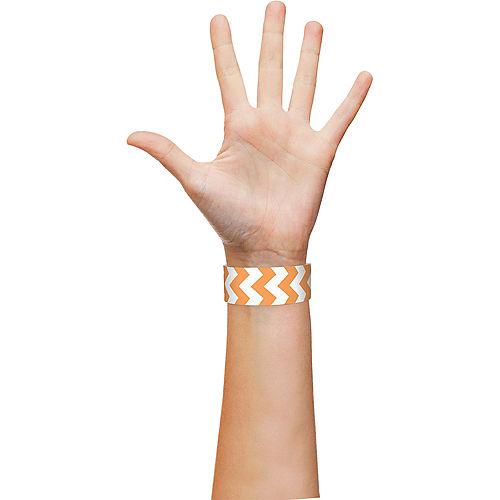 Orange Chevron Paper Wristbands, 500ct Image #2