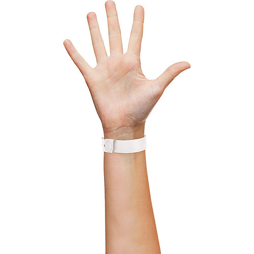 White Plastic Wristbands, 250ct Image #2