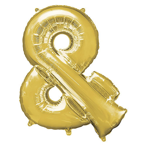 Giant Gold Ampersand Balloon 30in x 38in Image #1
