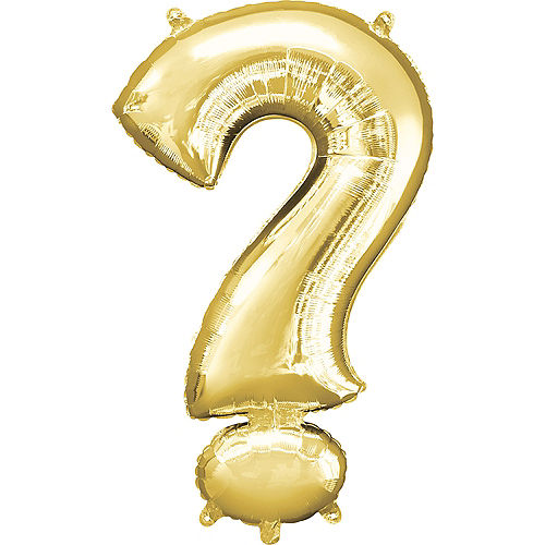 Giant Gold Question Mark Balloon 22in x 36in Image #1
