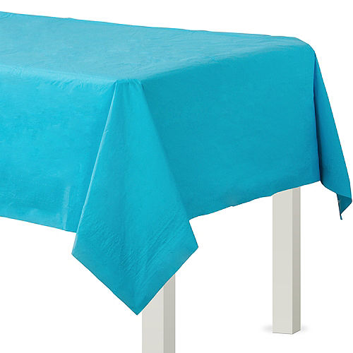 Caribbean Blue Paper Table Cover Image #1