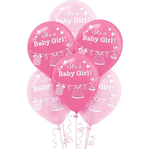 It's a Girl Baby Shower Balloon Kit 18ct Image #5