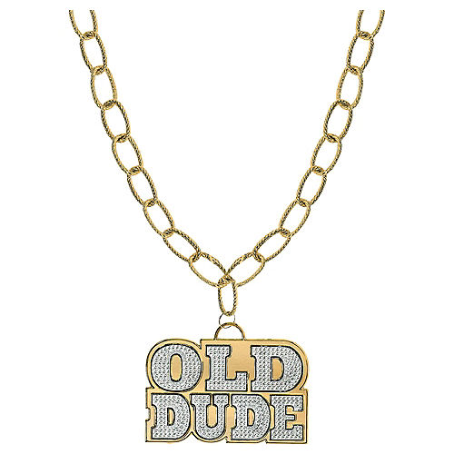 Old Dude Pendant Chain Link Necklace Image #1