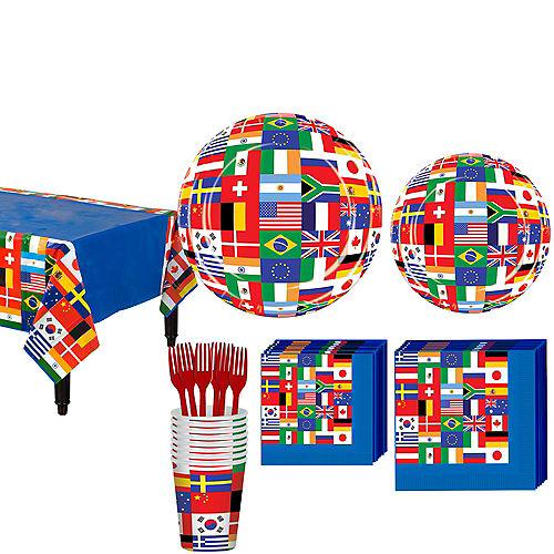 International Flag Party Kit for 8 Guests Image #1