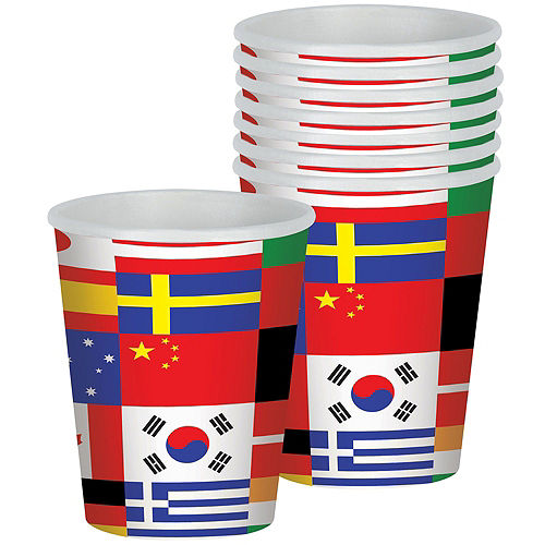 International Flag Party Kit for 8 Guests Image #6