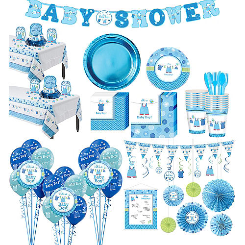 It's a Boy Premium Baby Shower Kit for 32 Guests Image #1