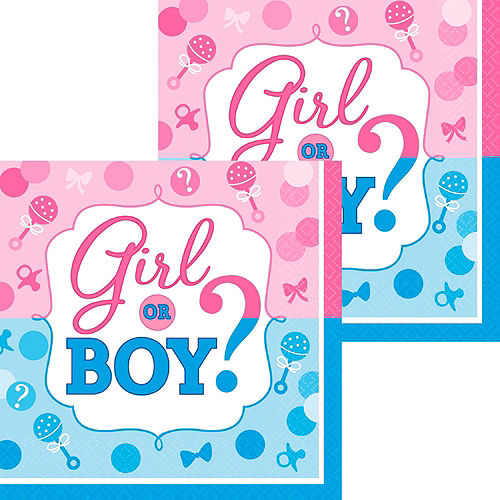 Girl or Boy Premium Gender Reveal Party Kit for 32 Guests Image #16