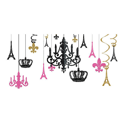 A Day in Paris Chandelier Decorating Kit 17pc Image #1