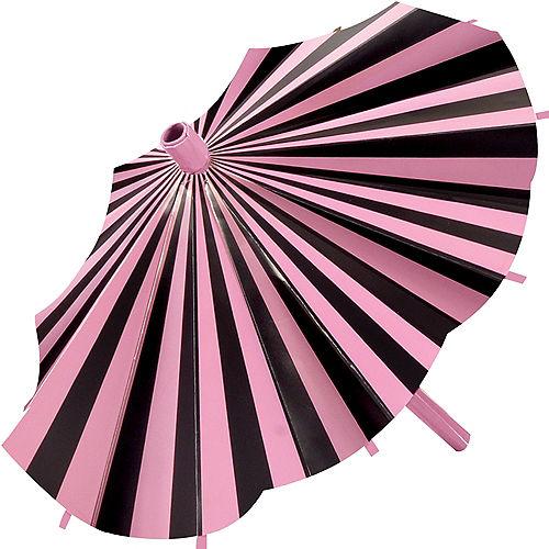 Pink & Black Parasol Decorations 3ct Image #2