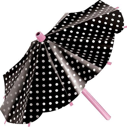 Pink & Black Parasol Decorations 3ct Image #3
